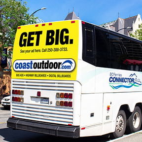 Coast Outdoor Bus Ad and OOH Transit Advertising