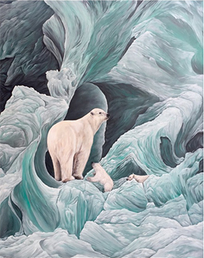 Polar Bears by Kath Stroman - Ladysmith Artist