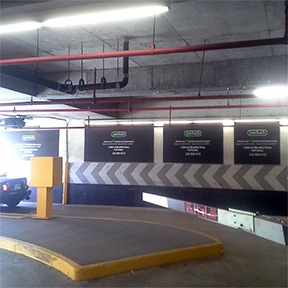 ParkAds Premium Exit Wall Placement Parkade Advertising Victoria Conference Centre